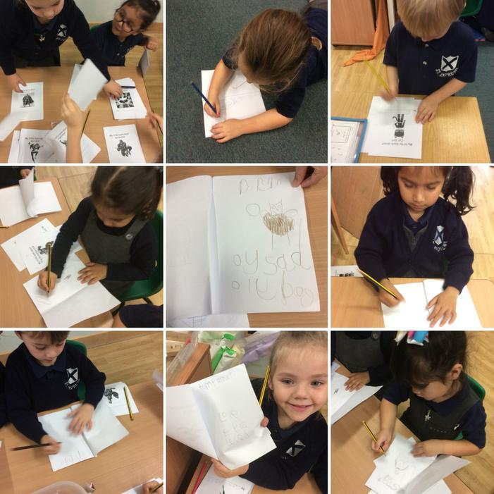 We are starting to make marks and form letters!