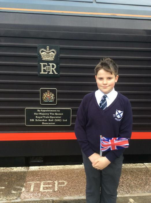 Oliver and the Royal train!