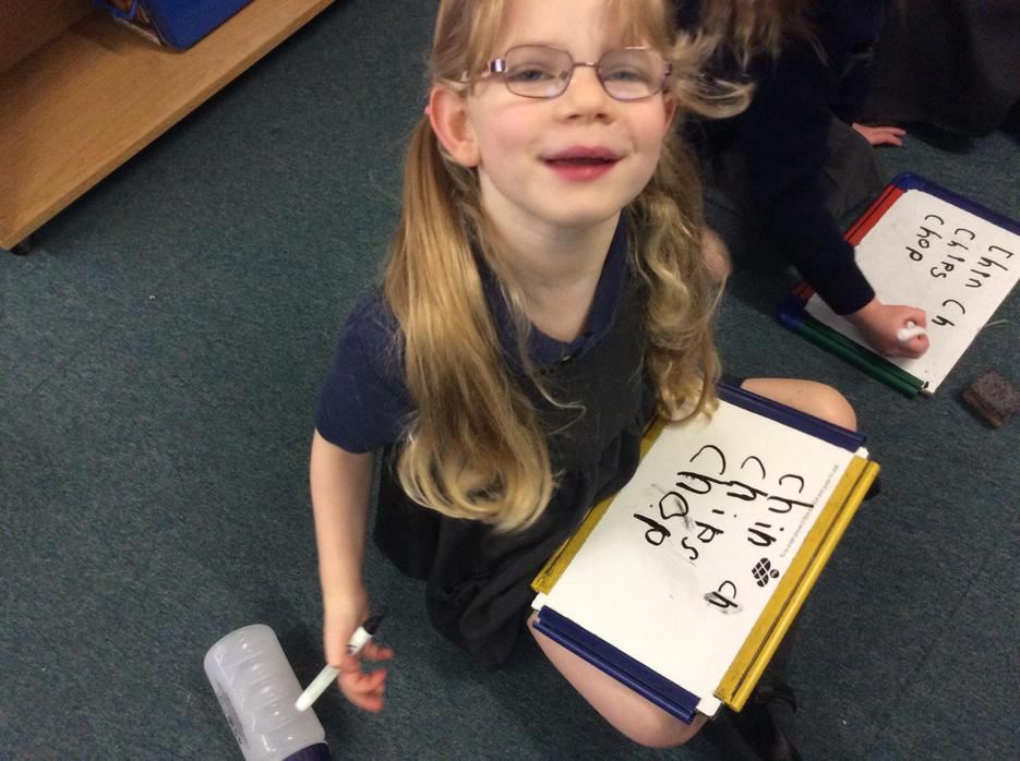 Writing words in our Phonics lessons