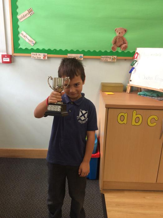 Oakley won the Wake and Shake trophy!