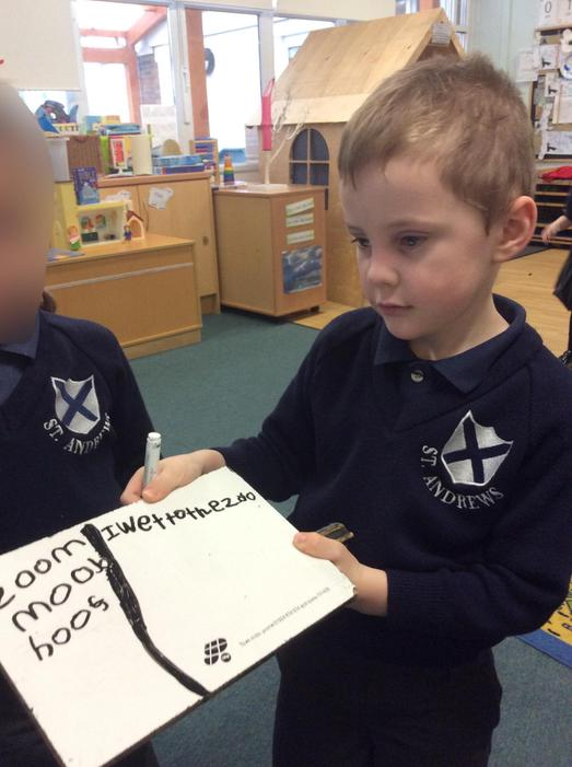Writing sentences!