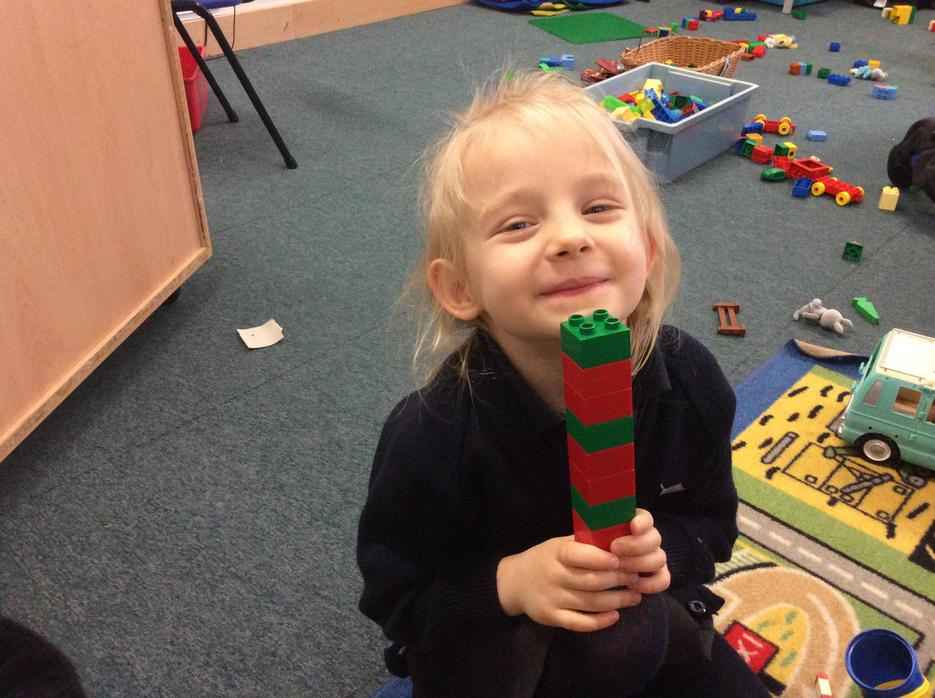 Creating patterns with Duplo bricks
