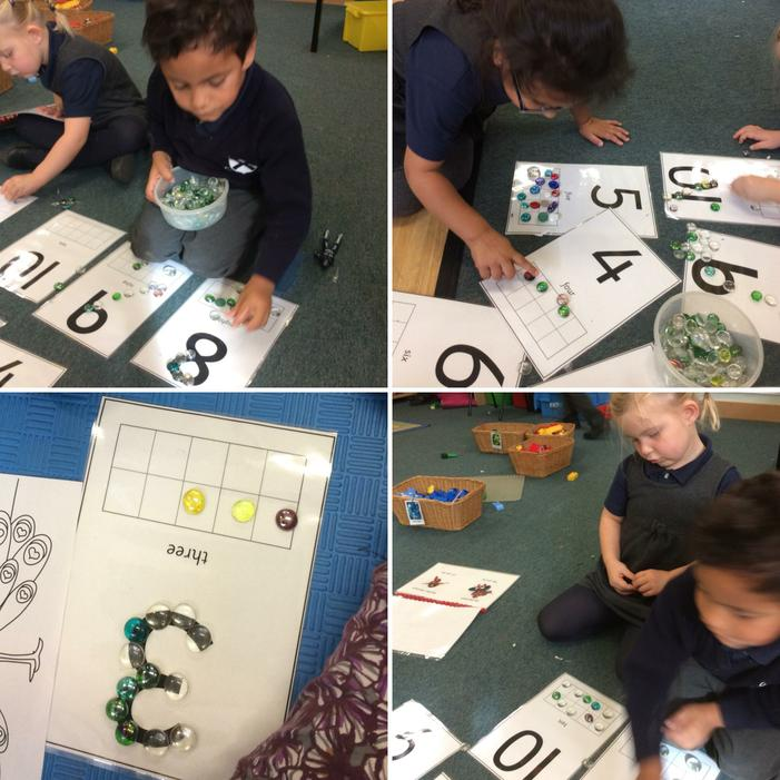 We can count objects and recognise numbers.