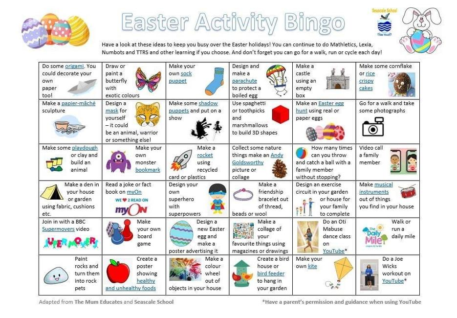 Ideas for Easter Activities