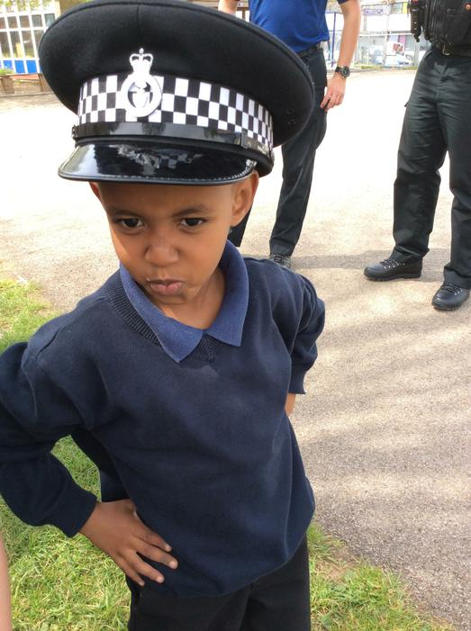 Police officer in training!