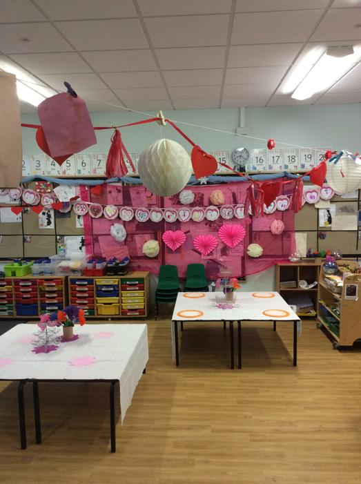 The whole classroom was decorated!
