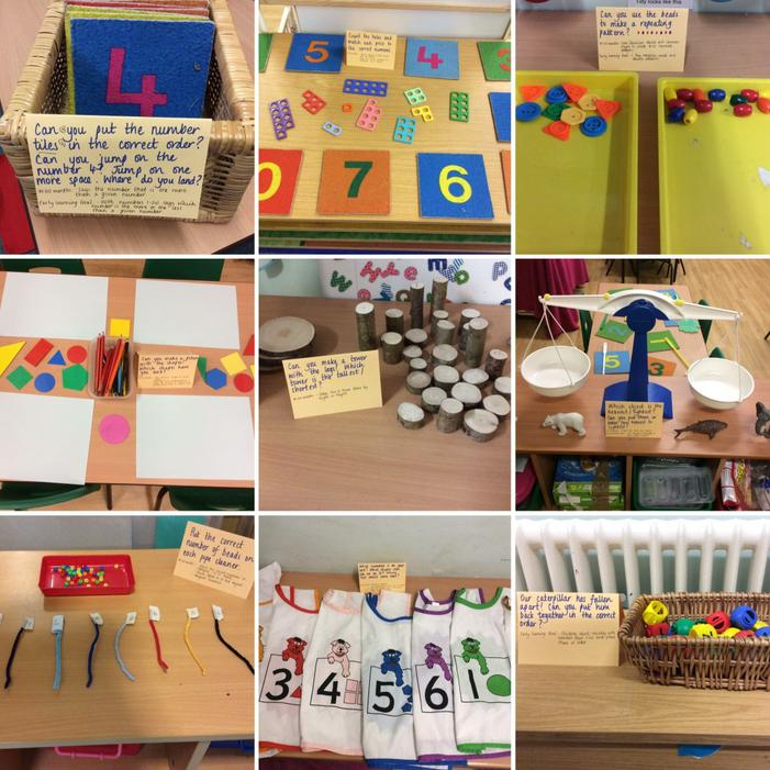 Here a few of the maths activities we tried.