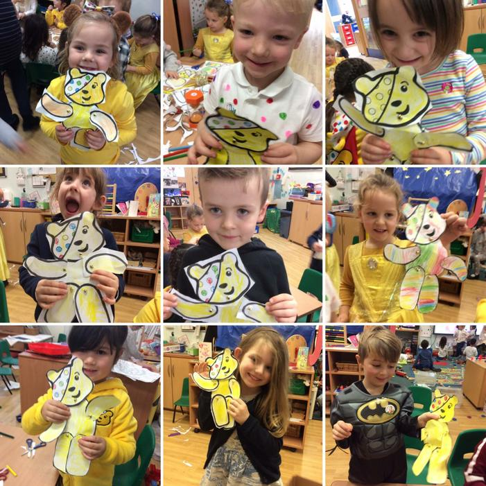 We dressed up and made our own Pudsey Bears!