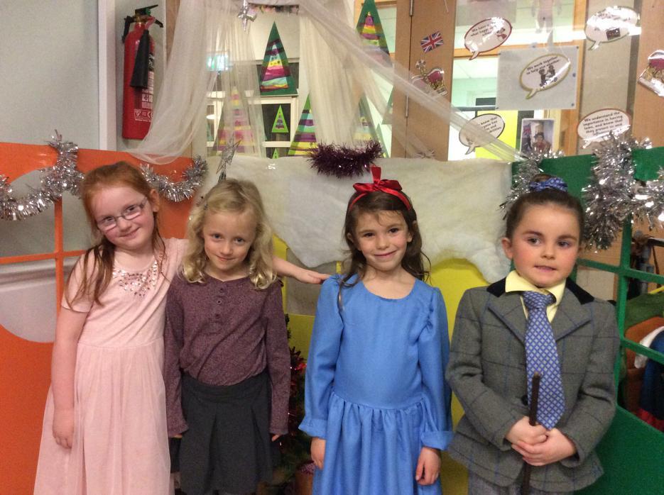 Miss Honey, Lavender, Matilda and Miss Trunchbull