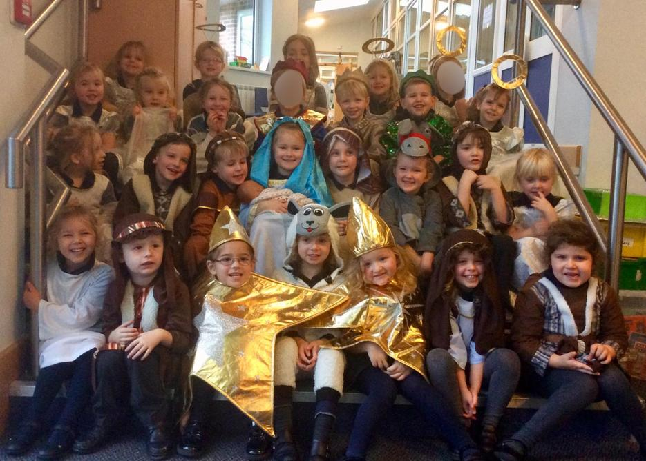 Our Nativity photo will soon appear in the Herald!
