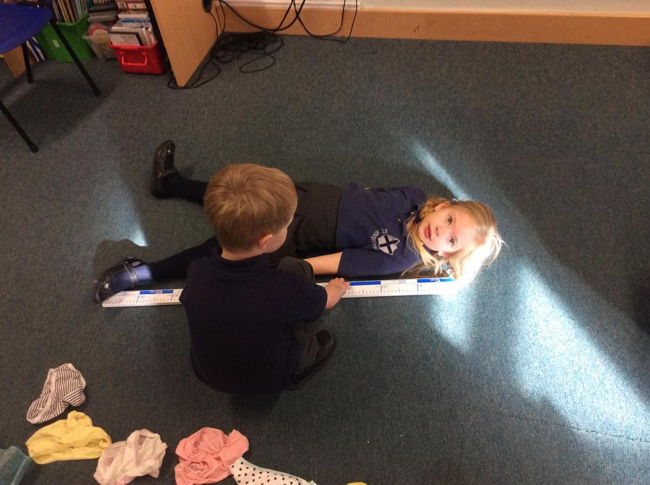 Measuring with a metre ruler