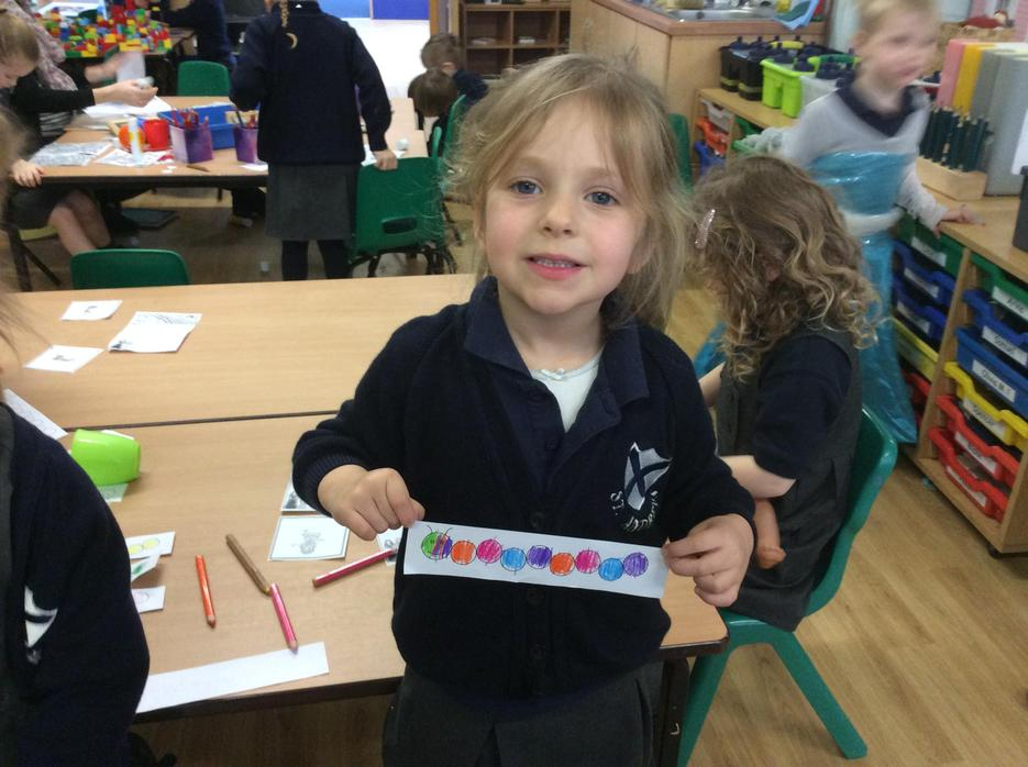 Colouring repeating patterns