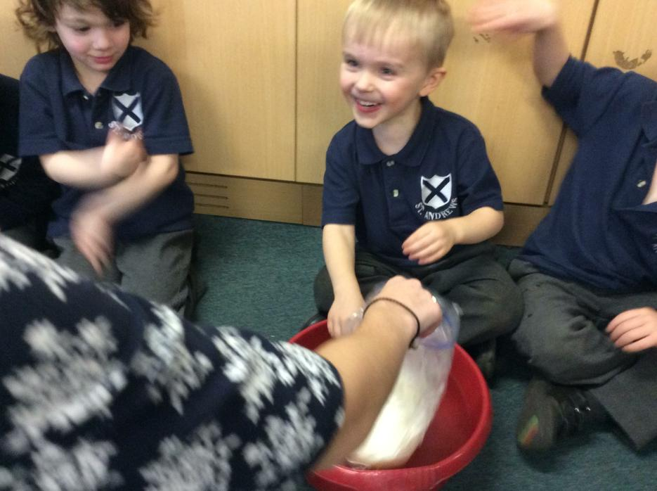 We tried out a bag full of blubber!