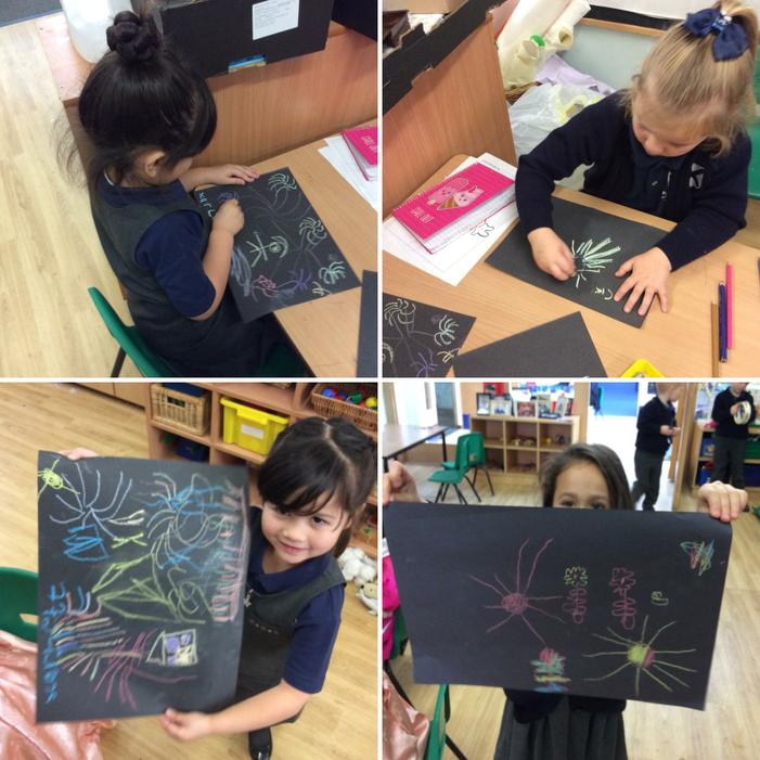 We celebrated Bonfire Night by drawing fireworks.