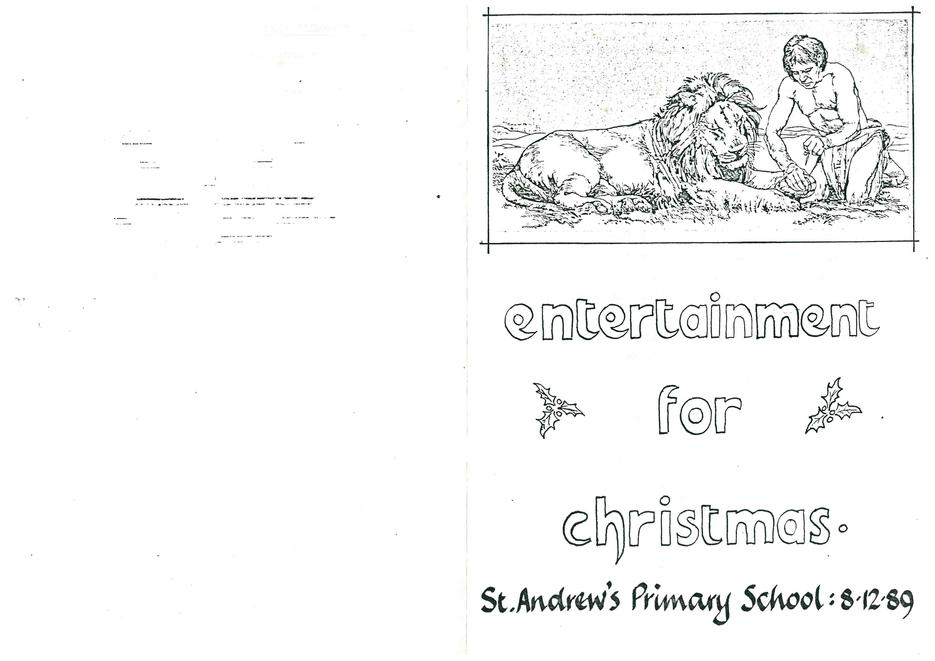 Christmas Production programme 1989