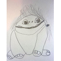 Erin's sketch of 'Abominable'