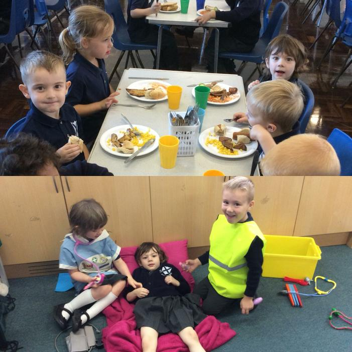 We can eat our lunch and look after our friends.