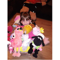 Maths with soft toys - there are 72 altogether 😃
