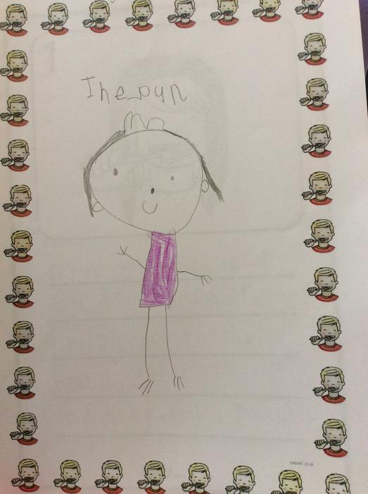 We drew pictures of the Queen..