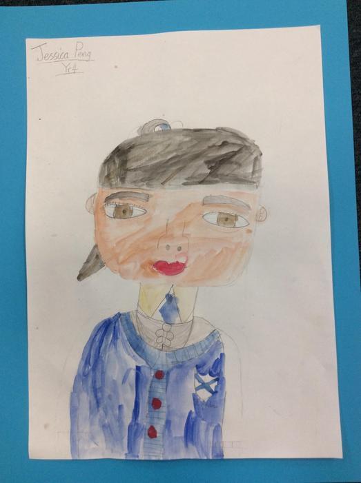 A self portrait by Jessica