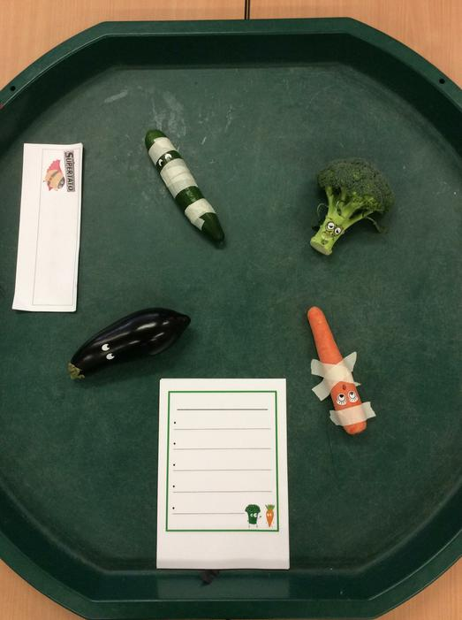 We found some of the vegetables from the story