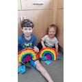 Wojtek and Hubert's rainbow promises. Stunning!