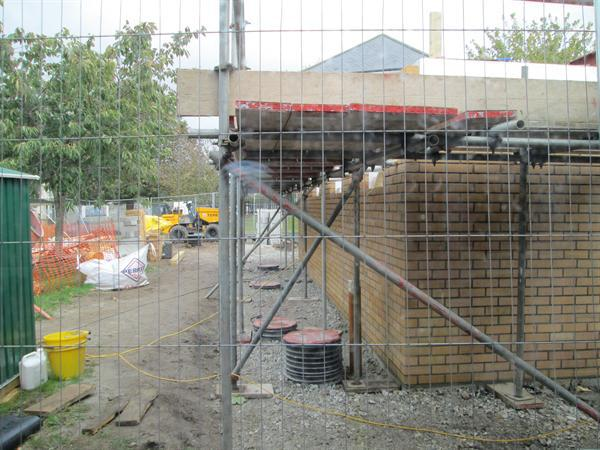 Infant toilet block construction work