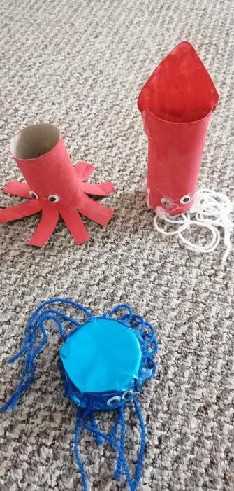 Aidan made some super sea cretures
