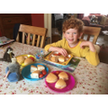 Can you spot the use of fractions in Theo's lunch?