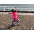 Awesome skateboarding Eve