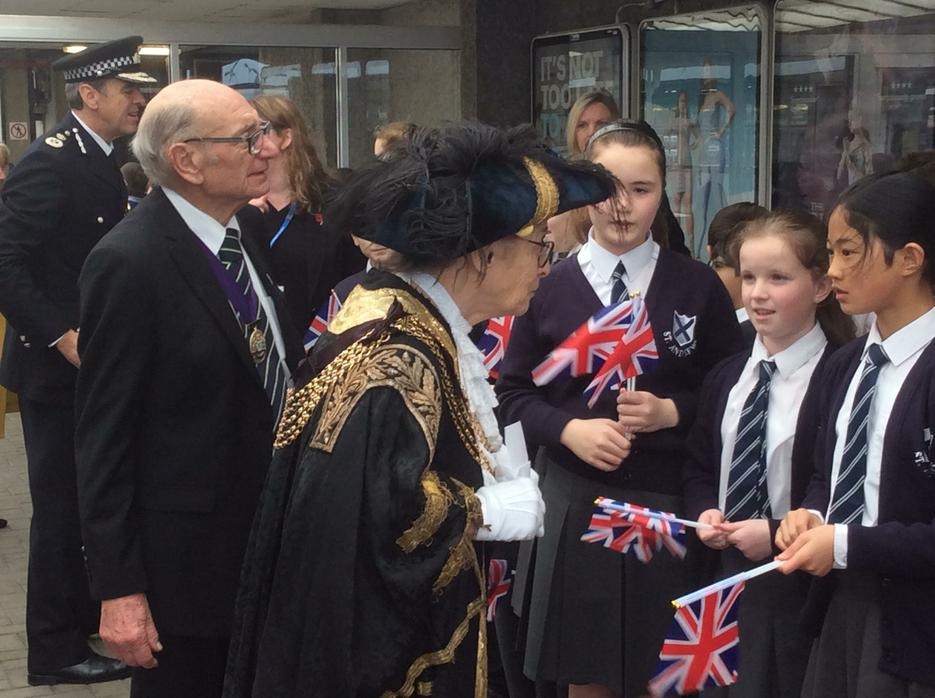 Chatting with the Lord Mayor