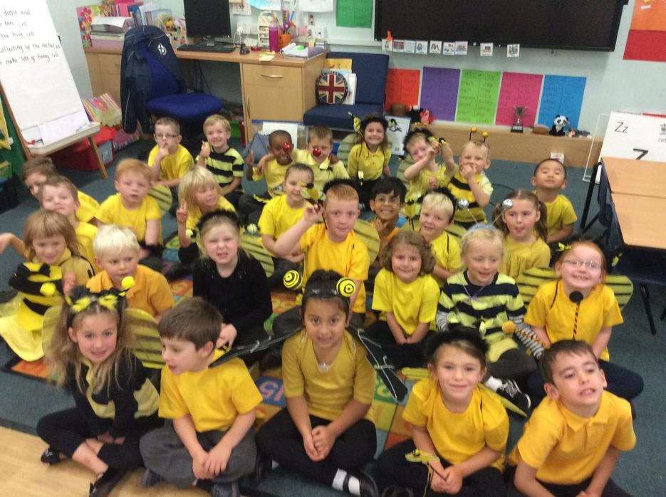 We had fun being bees during Harvest Festival!