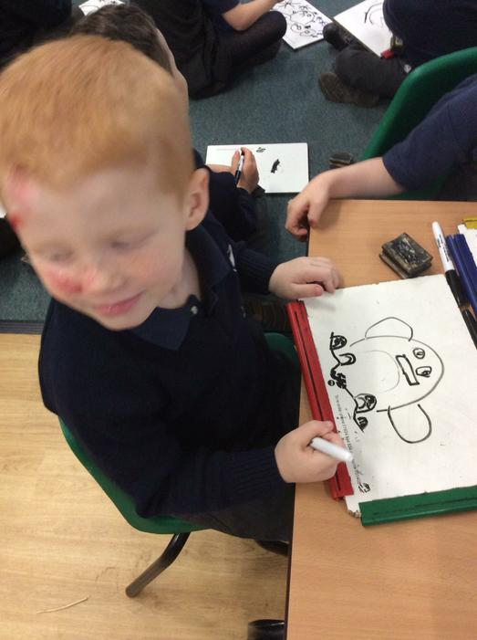 We learnt how to draw penguins.