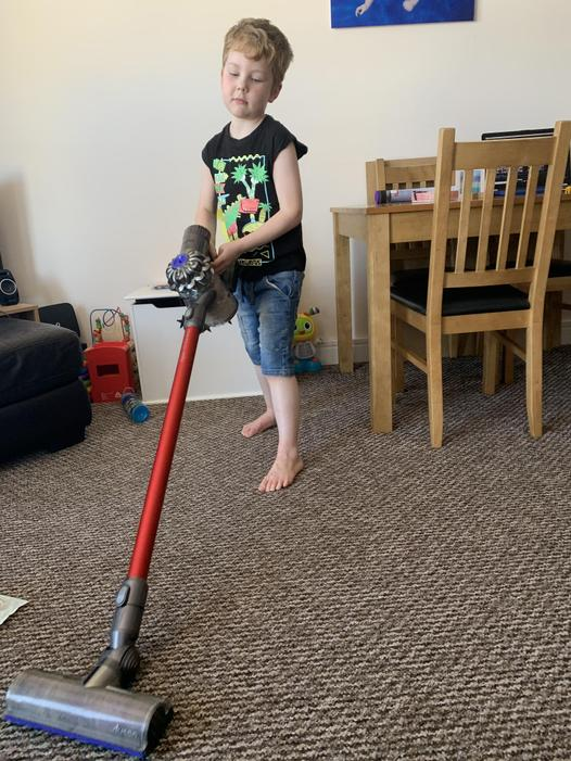 Well done for helping out with the chores.