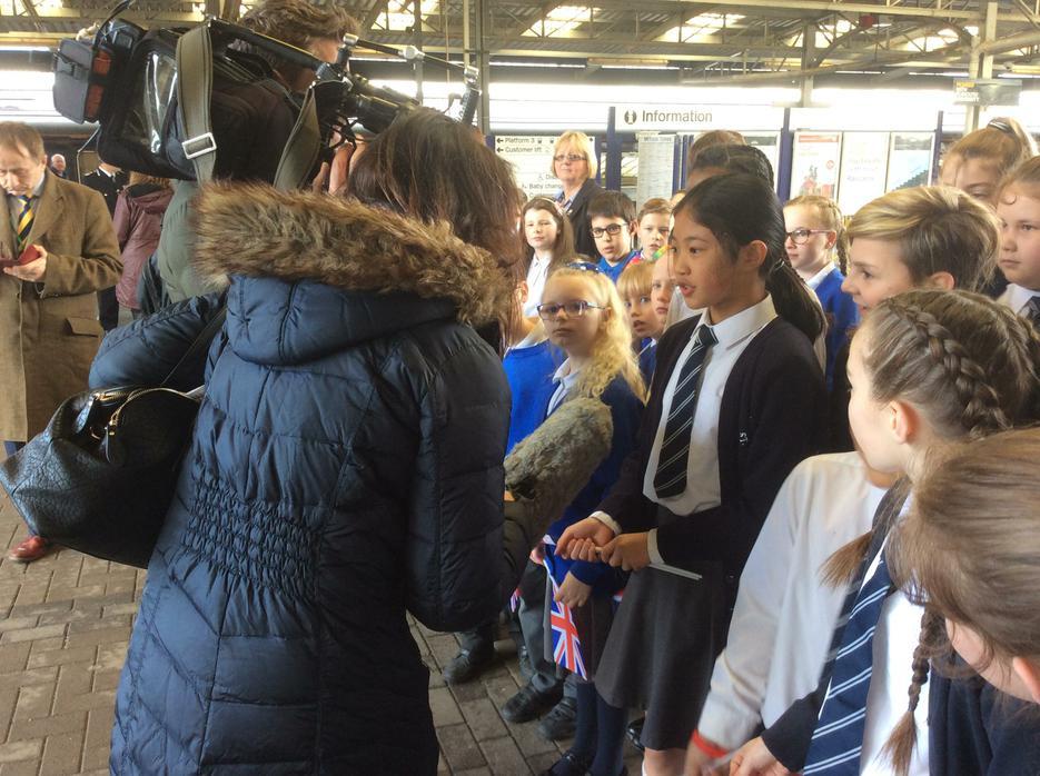 Amelia and Beau talk to the press!