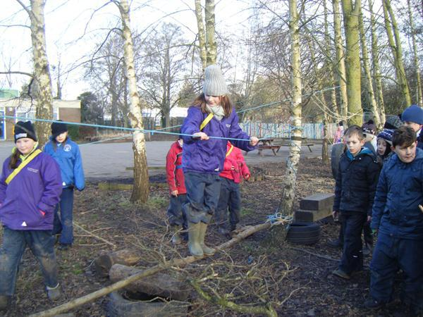 Demonstrating the assault course 2