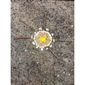 Becky art inspired by Andrew Goldsworthy