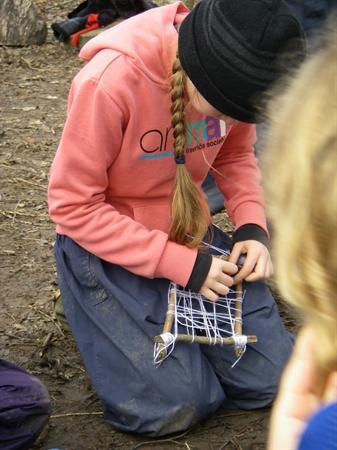 Weaving in a frame 1