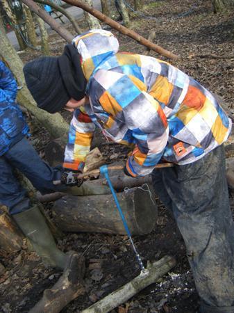 Using an auger