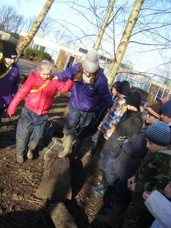 Demonstrating the assault course 3