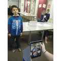 Our amazing app showing the inside of our bodies!