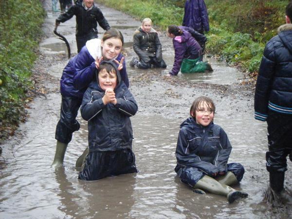 We're wet anyway!