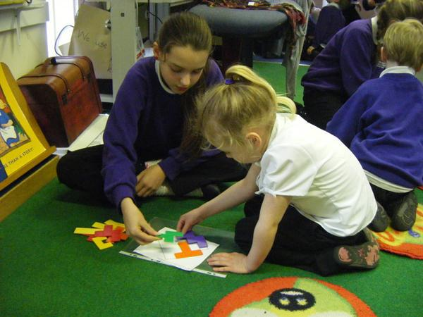 Solving shape puzzles with reception