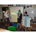 Teamwork presentation of their analysis findings