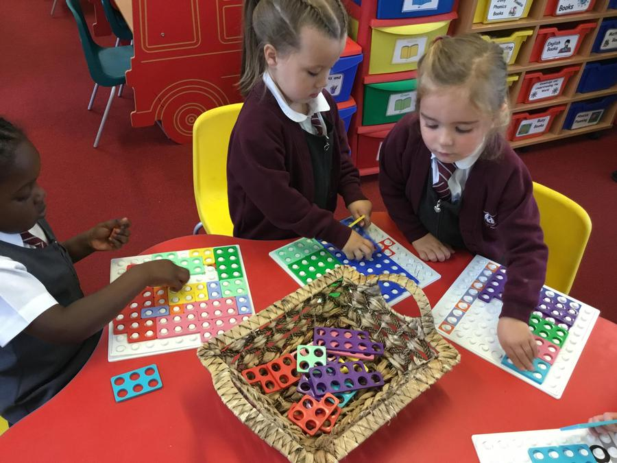 Numicon pictures.