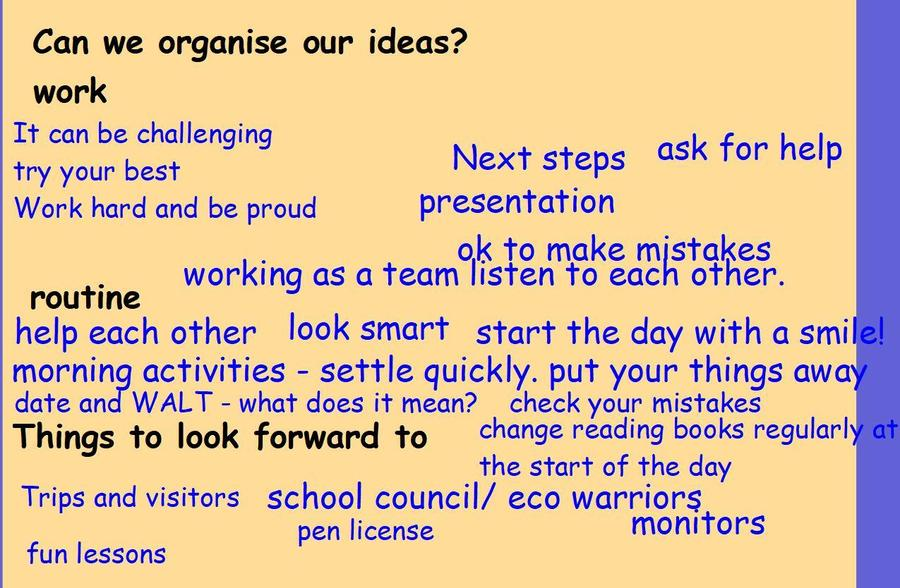 Ideas to include