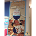 Nursery have created a Humpty Dumpty collage.