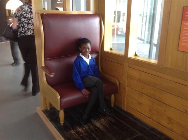Enjoying a sit in first class!