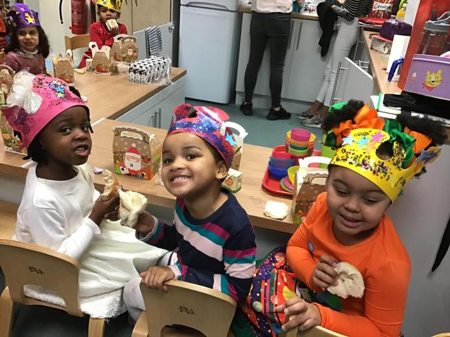 We had lots of fun at our Christmas party.