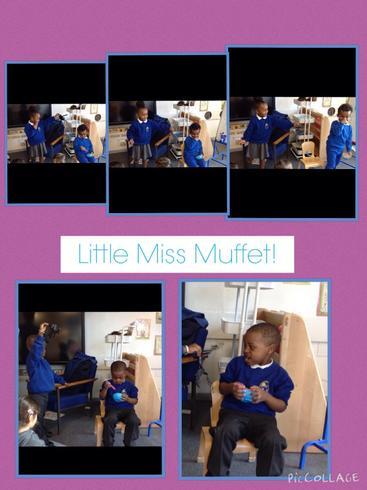 Little Miss Muffet!